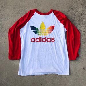🌈🌈 Vintage 90s Adidas baseball tee